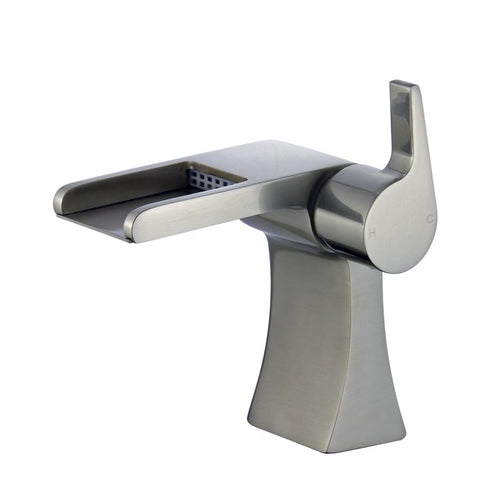 Salamanca Single Handle Bathroom Vanity Faucet in Brushed Nickel