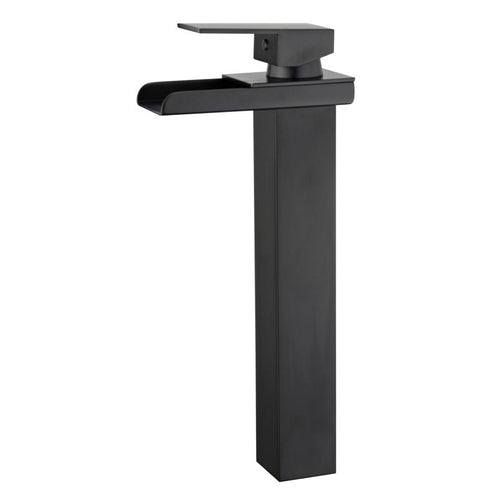 Oviedo Single Handle Bathroom Vanity Faucet in New Black