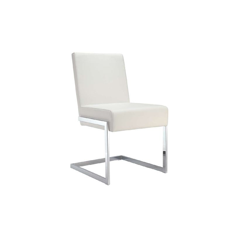 FONTANA White Eco-Leather Dining Chair by Casabianca Home