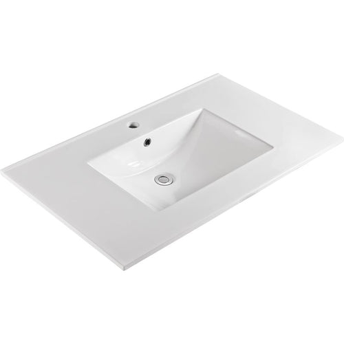 Bellaterra 37 In. Single Sink Ceramic Top 303722-A