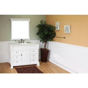 Bellaterra 50 In Single Sink Vanity Wood White