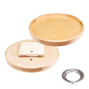 "28"" Round Wooden Lazy Susan with Swivel"