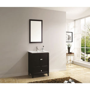 "Adornus Lombardi 24"" Espresso Single Bathroom Vanity with mirror"