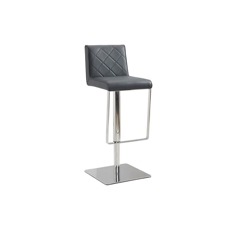 LOFT Dark Gray Eco-leather w Stainless Steel Bar Stool by Casabianca Home