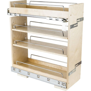 "No Wiggle 8"" Base cabinet pullout with premium soft-close concealed undermount slides"