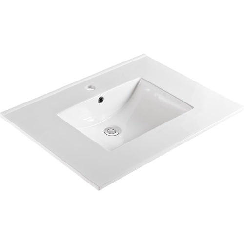 Bellaterra 31 In. Single Sink Ceramic Top 303122-A
