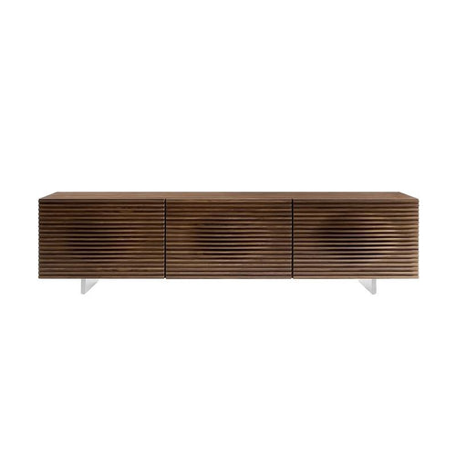 MOON Walnut Veneer Entertainment Center by Casabianca Home