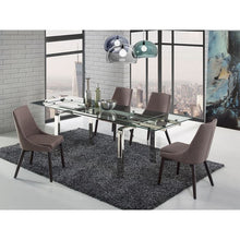 Load image into Gallery viewer, CREEK Dark Gray Linen / Wenge Legs Dining Chair by Casabianca Home