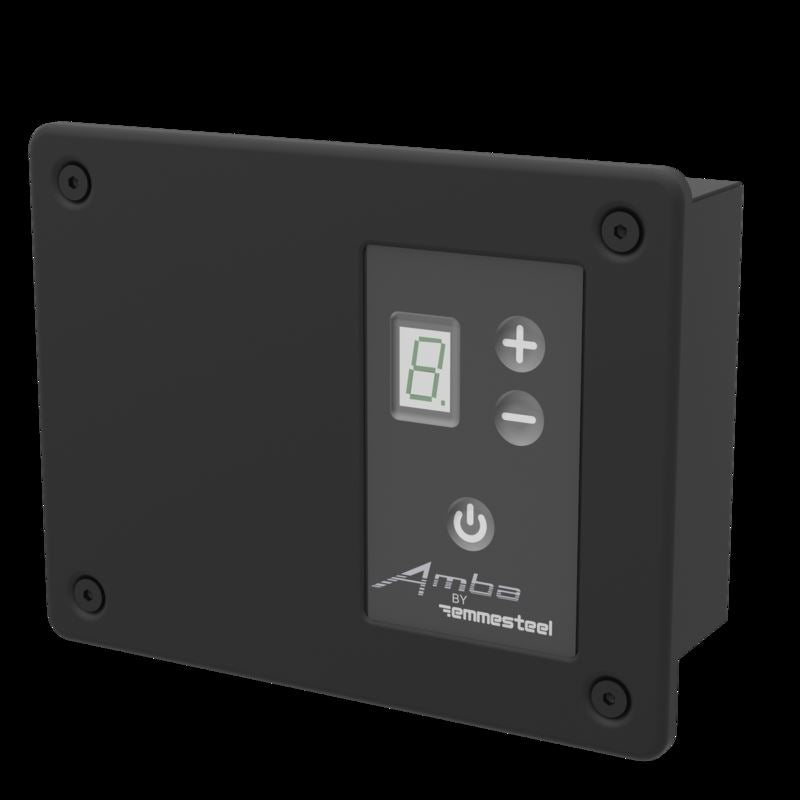 Amba Remote Digital Heat Controller Matte Black