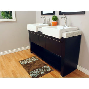Bellaterra 57.75  In Double Sink Vanity Wood Black 804375A-BL