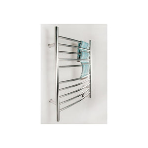 Amba Radiant Hardwired Curved 10 Bar Towel Warmer, Polished