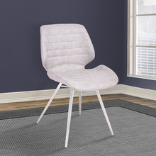 Load image into Gallery viewer, Valor Contemporary Dining Chair in Brushed Stainless Steel with Vintage Grey Faux Leather