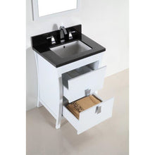 Load image into Gallery viewer, Bellaterra 24 In. Single Sink Vanity With Black Galaxy Top 500701-24-BG