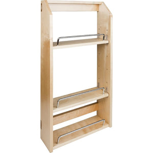 "15-1/2"" x 4"" x 24"" Adjustable Spice Rack for 21"" Wall Cabinet"