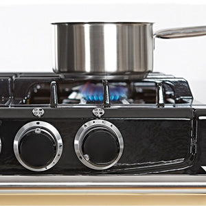 AGA City24 Dual Fuel Cast Iron Range with Gas Burners WHITE
