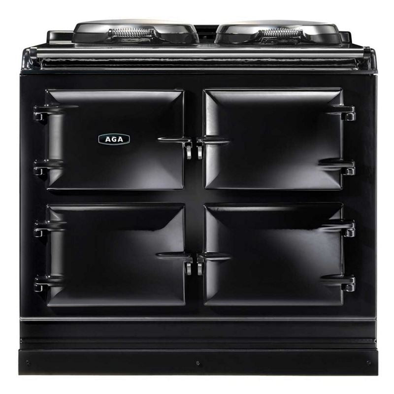 AGA Total Control Cast Iron 3-Oven Electric Range BLACK