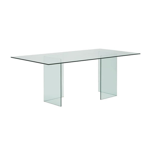 MIAMI Clear Glass Dining Table by Casabianca Home