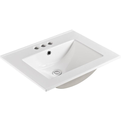 Bellaterra 24 In. Single Sink Ceramic Top