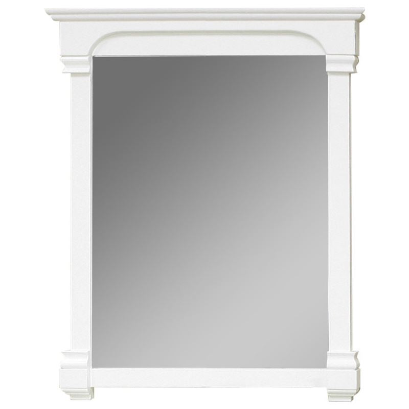 Bellaterra 36 In Solid Wood Frame Mirror White