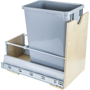 Preassembled 35-Quart Single Pullout Waste Container System.