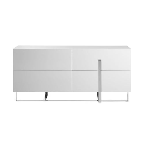 COLLINS High Gloss White Lacquer Dresser by Casabianca Home