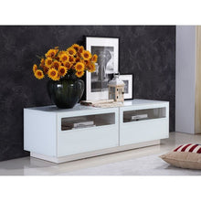 Load image into Gallery viewer, CORTE High Gloss White Lacquer Entertainment Center by Casabianca Home