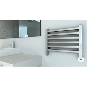 Amba Quadro Q-2016 6 Bar Towel Warmer, Brushed