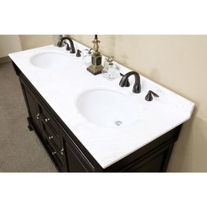 Bellaterra 60 In Double Sink Vanity Wood Espresso 205060-D-ES