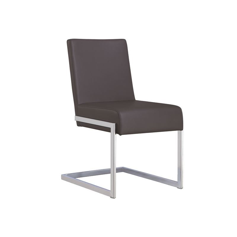 FONTANA Dark Gray Eco-leather Dining Chair by Casabianca Home