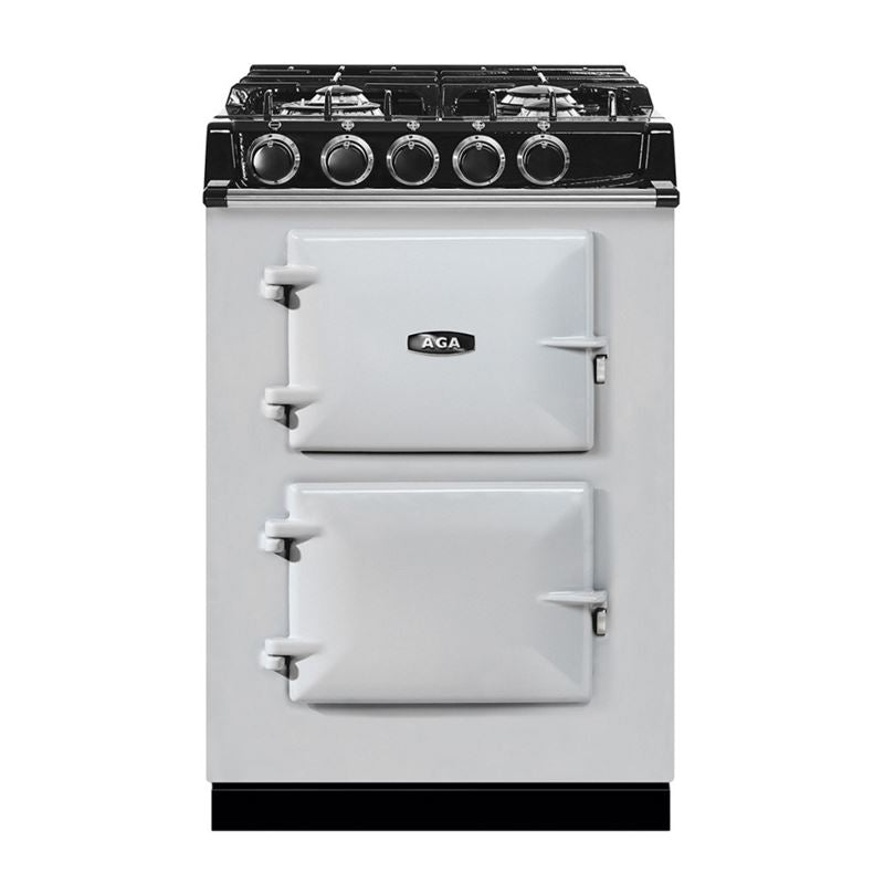 AGA City24 Dual Fuel Cast Iron Range with Gas Burners PEARL ASHES