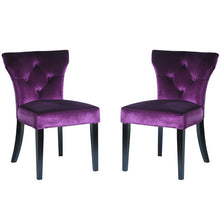 Load image into Gallery viewer, Elise Side Chair in Purple Velvet - Set of 2