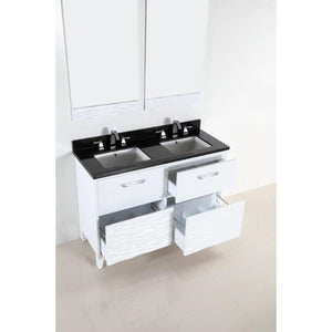Bellaterra 48 In. Double Sink Vanity With Black Galaxy Top 500709-48D-BG