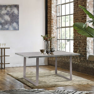 Fenton Contemporary Dining Table with Cement Gray Top