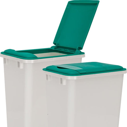 Green Lid for 50-Quart Plastic Waste Container