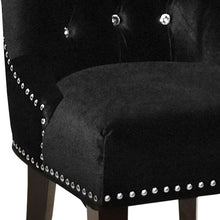 Load image into Gallery viewer, Carlyle Tufted Velvet Side Chair with Nailhead Trim LCF024TUSIBL