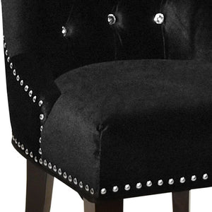 Carlyle Tufted Velvet Side Chair with Nailhead Trim LCF024TUSIBL