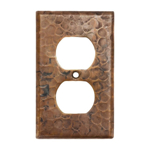 Copper Switchplate Single Duplex, 2 Hole Outlet Cover - Quantity 4