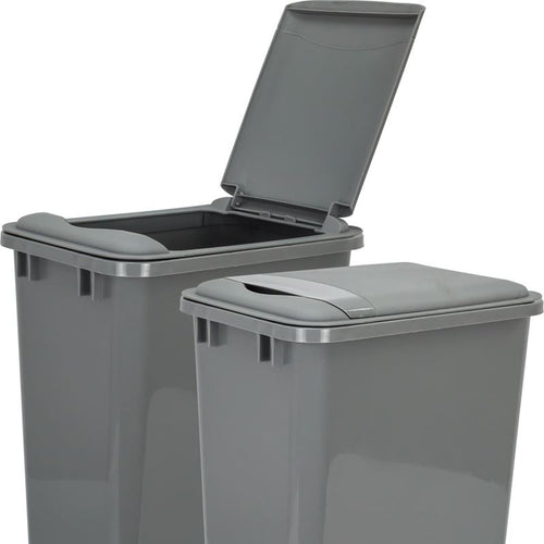 Gray Lid for 50-Quart Plastic Waste Container