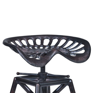 Osbourne Adjustable Barstool in Industrial Copper Metal finish