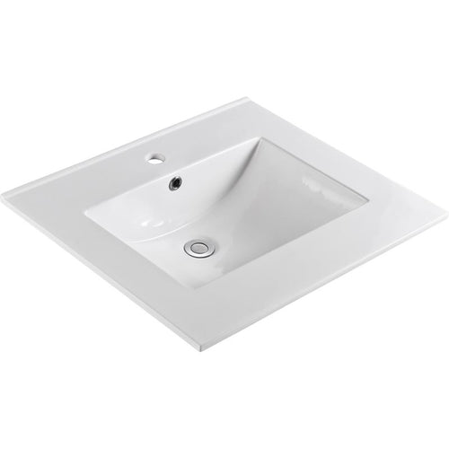 Bellaterra 25 In. Single Sink Ceramic Top 302522-A
