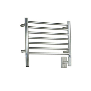 Amba H Straight 7 Bar Towel Warmer, Brushed