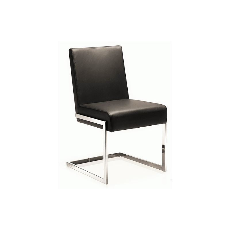 FONTANA Brown Eco-leather Dining Chair by Casabianca Home