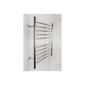 Amba Radiant Plug-in Curved 10 Bar Towel Warmer, Polished