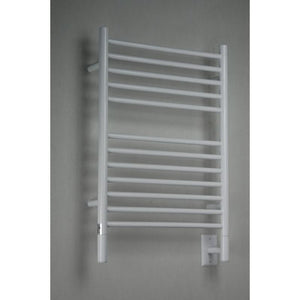 Amba E Straight 12 Bar Towel Warmer, White