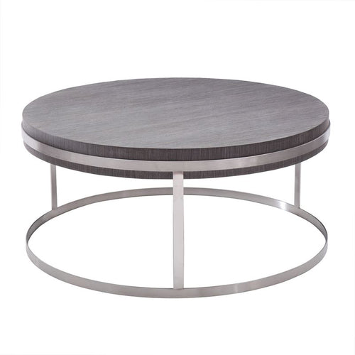 Sunset Coffee Table in Brushed Stainless Steel finish with Grey Top