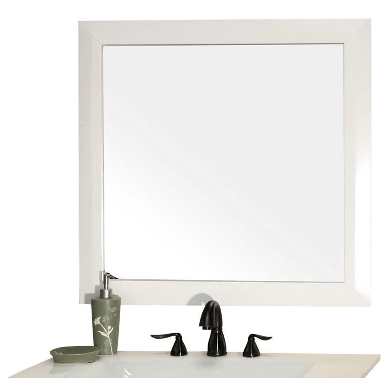 Bellaterra Solid Wood Frame Mirror White