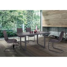 Load image into Gallery viewer, Newark Contemporary Dining Table in Gray Powder Coated Finish and Rusted Black