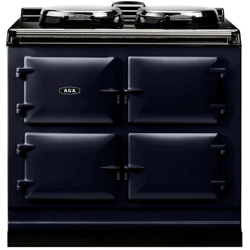 AGA Dual Control Cast Iron 3-Oven Electric Range DARK BLUE