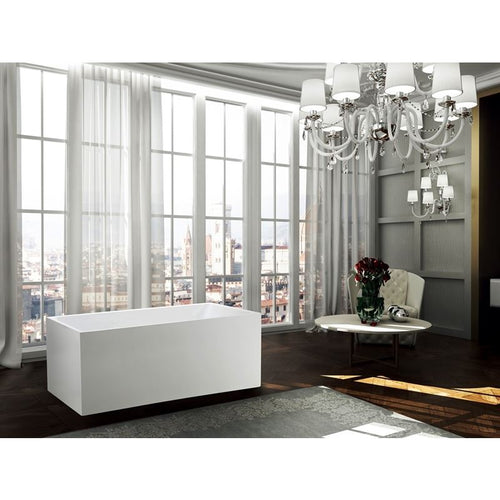 Catania 67 inch Freestanding Bathtub in Glossy White