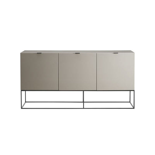 VIZZIONE High Gloss Light Gray Lacquer Buffet by Casabianca Home